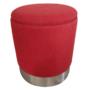 Kép 1/2 - DARON Puff,  oxy fire piros anyag/ezüst króm