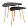 Kép 1/10 - GOREJ Két darabos asztalkészlet,  fekete/természetes