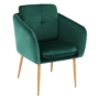 Kép 1/15 - AVETA Dizájner fotel,  smaragd Velvet szövet