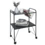 Kép 1/5 - KORETE Mozgatható kisasztal - többfunkciós - fém/műanyag,  fekete