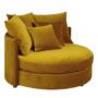 Kép 1/4 - SALOTO Kerek fotel,  Velvet szövet sárga