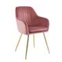 Kép 1/2 - ADLAM Dizájn fotel,  rózsaszín Velvet szövet/gold króm-arany