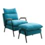 Kép 1/3 - BANDER Fotel lábtartóval,  kék/fekete fém