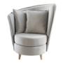 Kép 1/3 - ROUND Fotel Art Deco stílusban,  világosszürke Paros szövet/tölgy [NEW]