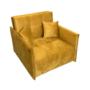 Kép 1/5 - ALANA Kinyitható fotel,  mustár színű szövet Riviera