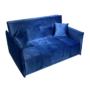 Kép 1/5 - ALANA Kinyitható 3-as ülés,  párizsi kék szövet Riviera