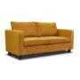 Kép 1/2 - LUANA Teljesen kárpitozott heverő - 3-as ülés,  mustár színű szövet