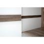 Kép 2/14 - LYNATET Akasztós szekrény,  fehér - extra magas fényű HG/trufla sonoma tölgyfa [20 TÍPUS]