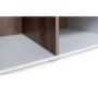 Kép 4/10 - LYNATET Szekrény,  fehér extra magas fényű HG/tölgy sonoma sötét trufla [TYP 23]