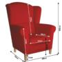 Kép 3/3 - CHARLOT Füles fotel,  piros