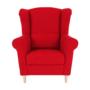 Kép 4/18 - CHARLOT Füles fotel,  piros