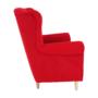 Kép 5/18 - CHARLOT Füles fotel,  piros