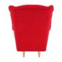 Kép 6/18 - CHARLOT Füles fotel,  piros