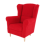 Kép 7/18 - CHARLOT Füles fotel,  piros