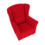 Kép 8/18 - CHARLOT Füles fotel,  piros