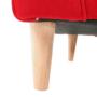 Kép 13/18 - CHARLOT Füles fotel,  piros