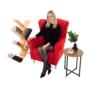 Kép 17/18 - CHARLOT Füles fotel,  piros