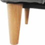 Kép 10/16 - CHARLOT Füles fotel,  szürke