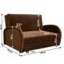Kép 5/5 - MILI Széthúzható fotel,  barna [2]