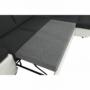 Kép 10/28 - AKRON Sarokülőgarnitúra - jobb oldali kivitel,  fehér textilbőr/zsenília Inari sötétszürke