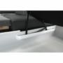 Kép 12/28 - AKRON Sarokülőgarnitúra - jobb oldali kivitel,  fehér textilbőr/zsenília Inari sötétszürke