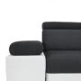 Kép 15/28 - AKRON Sarokülőgarnitúra - jobb oldali kivitel,  fehér textilbőr/zsenília Inari sötétszürke