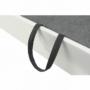 Kép 22/28 - AKRON Sarokülőgarnitúra - jobb oldali kivitel,  fehér textilbőr/zsenília Inari sötétszürke