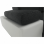 Kép 23/28 - AKRON Sarokülőgarnitúra - jobb oldali kivitel,  fehér textilbőr/zsenília Inari sötétszürke