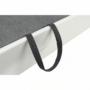 Kép 21/28 - AKRON Sarokülőgarnitúra - bal oldali kivitel,  fehér textilbőr/zsenília Inari sötétszürke