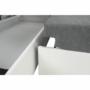 Kép 23/28 - AKRON Sarokülőgarnitúra - bal oldali kivitel,  fehér textilbőr/zsenília Inari sötétszürke
