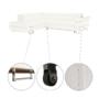 Kép 15/24 - BUTON Sarokülőgarnitúra ágyfunkcióval és ágyneműtartóval,   balos kivitelben,textilbőr fehér