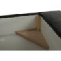 Kép 12/27 - BUTON Sarokülőgarnitúra ágyneműtartóval -  balos kivitel -  szürke melír,  szövet [R]