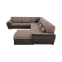 Kép 16/24 - EMILY U alakú ülőgarnitúra - barna szövet / barna textilbőr,  jobb oldali kivitel [U]