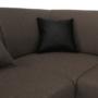 Kép 20/24 - EMILY U alakú ülőgarnitúra - barna szövet / barna textilbőr,  balos kivitelben [U]