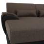 Kép 21/24 - EMILY U alakú ülőgarnitúra - barna szövet / barna textilbőr,  balos kivitelben [U]