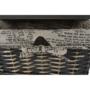 Kép 8/18 - DARKIE Komód - 1 kosár - 1 fiók,  szürke-barna [1]