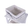 Kép 17/21 - RUBY Komód - 4 fiókos,  régi fehér [4]