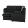 Kép 14/23 - BITER U alakú ülőgarnitúra - fekete műbőr,  jobbos [U]