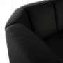 Kép 22/23 - BITER U alakú ülőgarnitúra - fekete műbőr,  jobbos [U]
