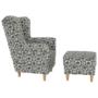 Kép 9/21 - ASTRID Fotel + puff,patchwork N1,  Fotel + puff,patchwork N1