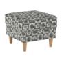 Kép 11/21 - ASTRID Fotel + puff,patchwork N1,  Fotel + puff,patchwork N1