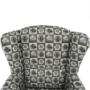 Kép 19/21 - ASTRID Fotel + puff,patchwork N1,  Fotel + puff,patchwork N1