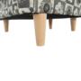Kép 20/21 - ASTRID Fotel + puff,patchwork N1,  Fotel + puff,patchwork N1