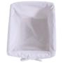 Kép 5/17 - RAFAELLO Komód - fa/vesszőfonás/szövet,  fehér [3]