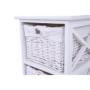 Kép 12/17 - RAFAELLO Komód - fa/vesszőfonás/szövet,  fehér [3]