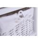 Kép 13/17 - RAFAELLO Komód - fa/vesszőfonás/szövet,  fehér [3]