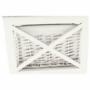 Kép 13/17 - RAFAELLO Komód - fa/vesszőfonás/szövet,  fehér [9]
