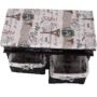 Kép 3/18 - SEAT Lóca párnával - 2 kosár,  sötétbarna/bézs/minta [BENCH 3]
