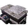 Kép 10/18 - SEAT Lóca párnával - 2 kosár,  sötétbarna/bézs/minta [BENCH 3]