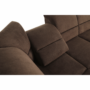 Kép 14/23 - SANTIAGO Ülőgarnitúra ágyfunkcióval - bal oldali kivitel,  barna szövet